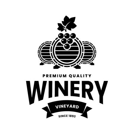 Signo de logotipo de vector de vino moderno para taberna, restaurante, casa, tienda, tienda, club y bodega aislado sobre fondo blanco. Ilustración de logotipo de viña de primera calidad. Plantilla de diseño de insignia de marca de moda. Logos