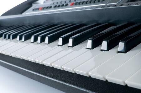 synthesizer: Synthesizer piano keyboard  Stock Photo