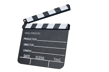 Film Slate with clipping path Stock Photo - 12325468
