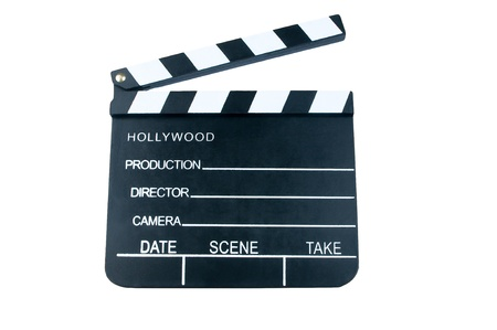 Film Slate with clipping path Stock Photo - 12325478