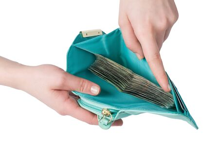 Open wallet full of money  Stock Photo - 12325502