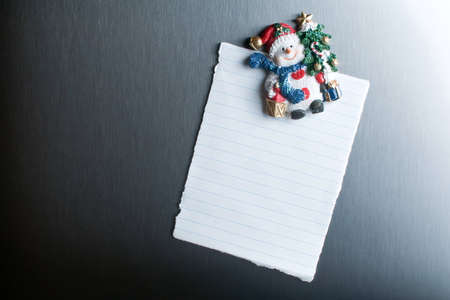 wish list: Christmas blank note on the fridge