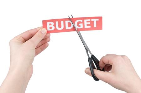 Cutting budget  Stock Photo