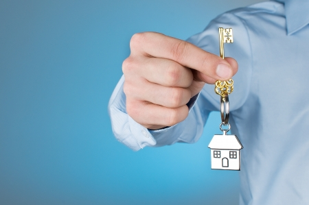 real estate background: House Key  Stock Photo