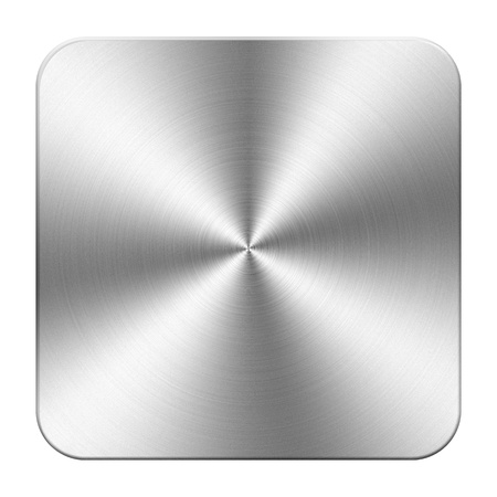 metal-silver button, place for your own text, picture
