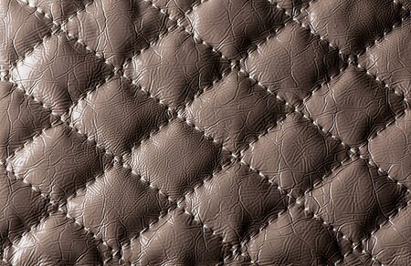 Abstract and elegant brown leather background  Stock Photo