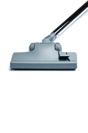 Vacuum cleaner on white background with copy space