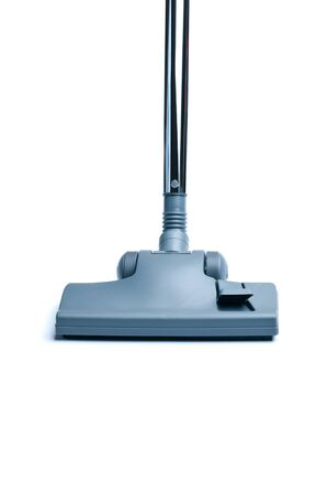 Vacuum cleaner on white background with copy space photo