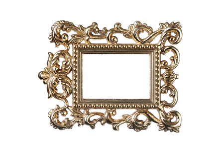 Vintage gold frame  photo