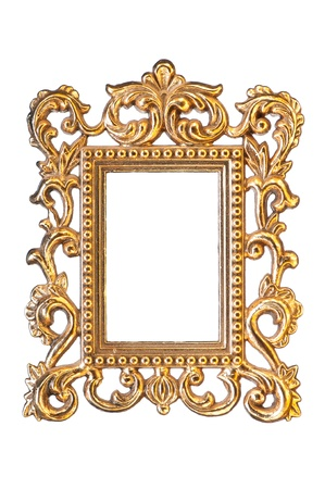 elegant, vintage gold frame  photo