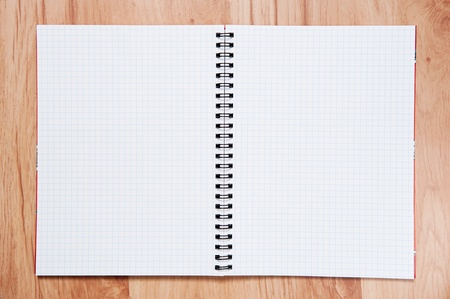 exercise book on table.exercise book on wooden background Stock Photo