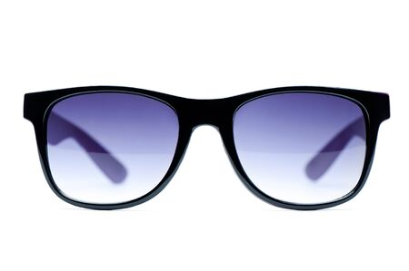 Old Black nerd Glasses with white background