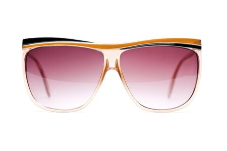 vision repair: elegant nerd Glasses with white background Stock Photo