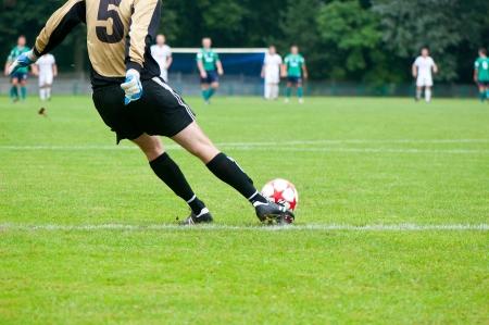 soccer boots: Soccer football field stadium grass.
