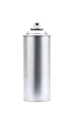 aerosol can: blank aluminum spray can isolated on white background Stock Photo
