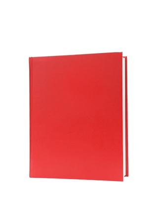 old diary: Book with a red cover on white background.