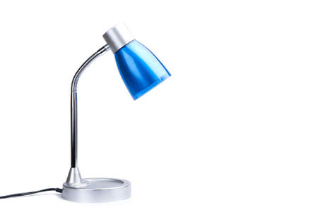 Blue desk lamp on white background. Stock Photo - 16626440