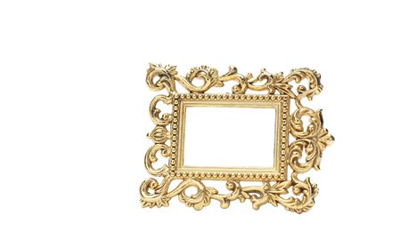 gold frame isolated on the white background with clipping path Stock Photo - 16702303