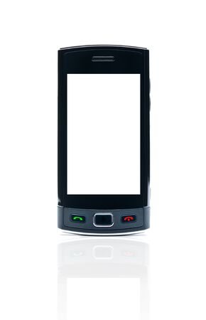 Smart phone with blank isolated on white background with clipping path