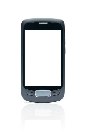 Blank smart phone isolated on white background with clipping path Stock Photo