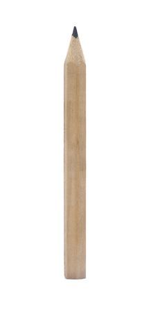 ołówek: Drewniany ołówek na białym tle