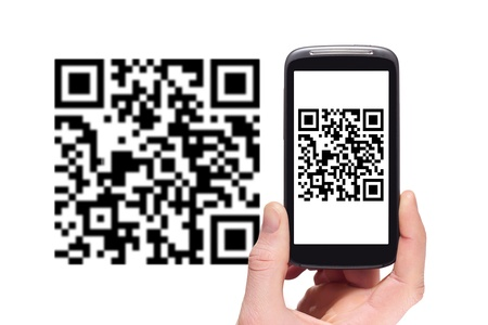 Scanning QR code with smart phone photo