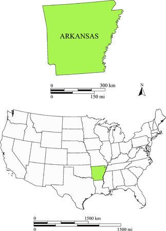 Arkansas kaart