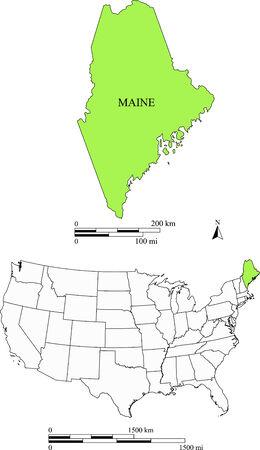 Maine kaart