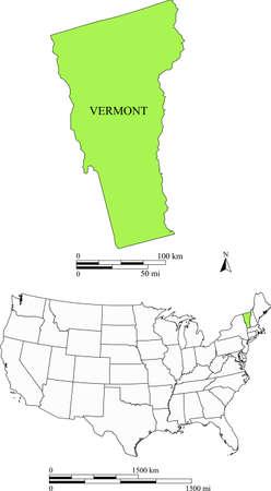Vermont kaart