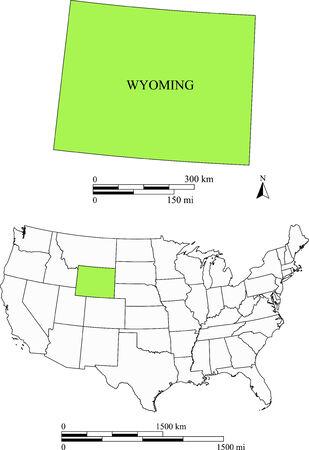 Wyoming kaart