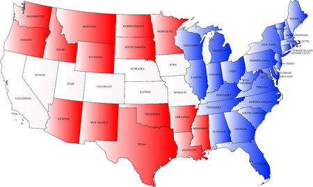 국기의 색상과 미국지도