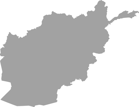 islamabad: Afghanistan map outline in gray color