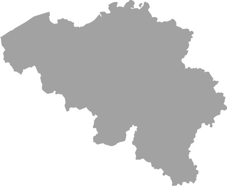 north brabant: Belgium map outline in gray color