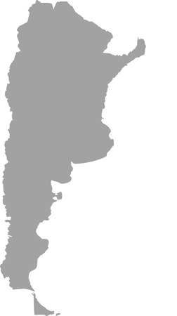 regions: Argentina outline vector in gray color