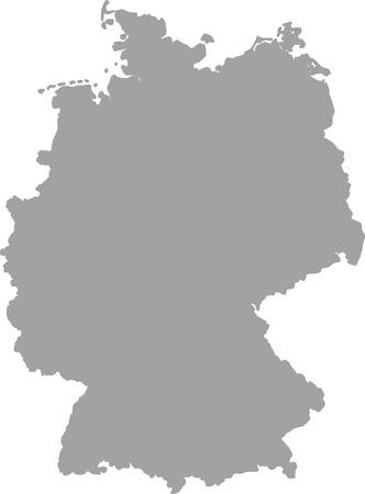 deutschland karte: Deutschland Karte Umriss Vektor in grauer Farbe