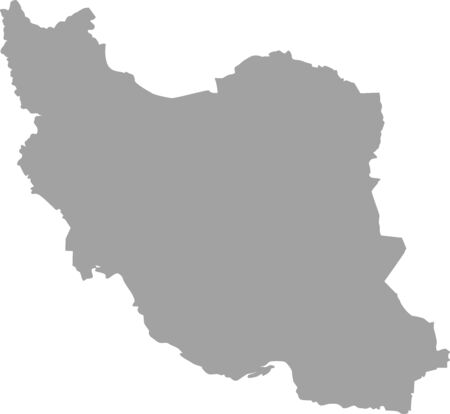 iran: Iran map outline vector in gray color
