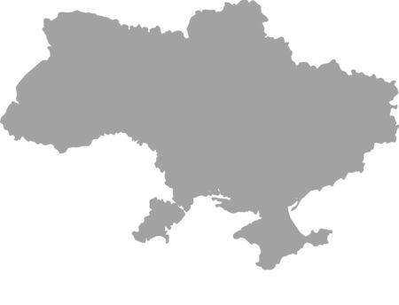 chernobyl: Ukraine map outline vector in gray color