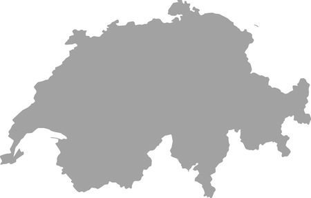 aargau: Switzerland map outline in gray color