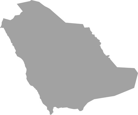 Saudi arabia map outline  in gray color Иллюстрация