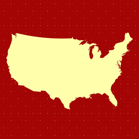 United States map outline in red color