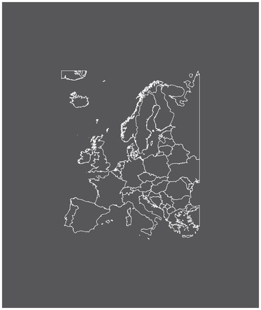 Europe map outline vector with borders of provinces or states 向量圖像