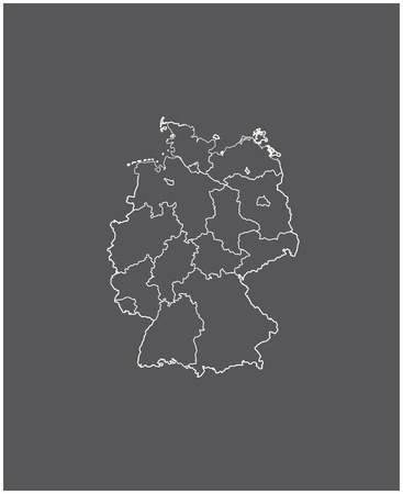 Germany map outline with borders of provinces or states 向量圖像