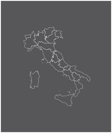 Italië kaartoverzicht vector met grenzen van provincies of staten