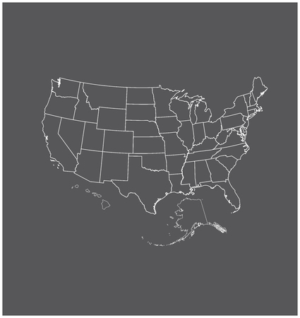 California County Map Vector Outline In Gray Color Royalty Free - Us map outline vector