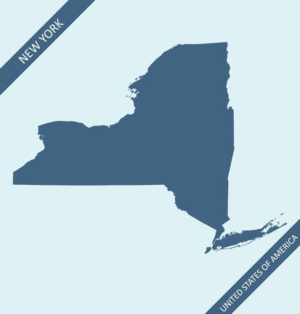 Map of New York state 向量圖像