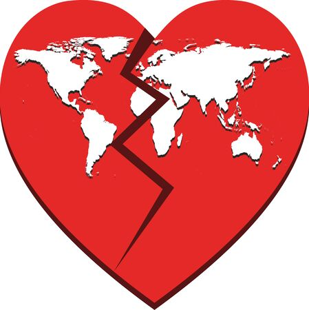 Broken heart of world due to covid-19 deaths