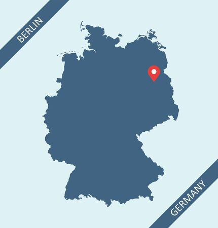 Germany map vector outlines cartography