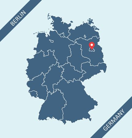 Map of Germany vector outlines Illustration
