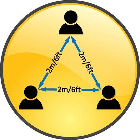 Social distancing emoji icon