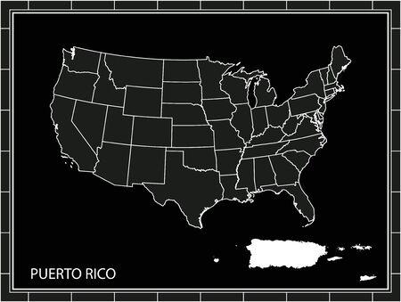 Puerto Rico on United States map